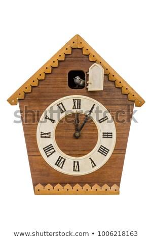Koekoek klok teken Blauw Stockfoto © nik187