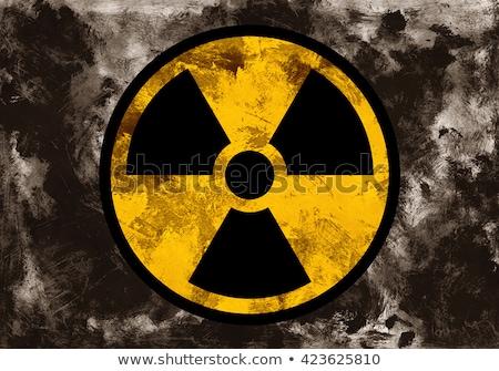 assinar · radiação · fogo · isolado · preto · laranja - foto stock © saicle
