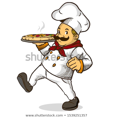 chef · kok · pizza · voedsel · achtergrond · keuken - stockfoto © dagadu