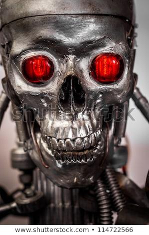 Android fej emberi szemek fehér technológia Stock fotó © Balefire9