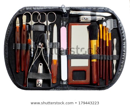 manicure tools in a travelling case stock photo © newt96