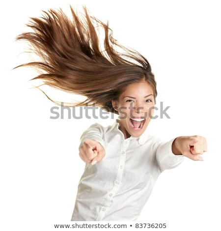 Empresária sorridente vento cabelo negócio mulher Foto stock © photography33