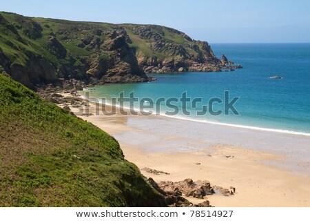 Kaya oluşumu sahil su yaz okyanus mavi Stok fotoğraf © haraldmuc