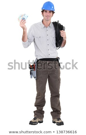 An electrician with plenty of cash. Stock photo © photography33