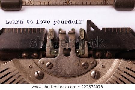 jezelf · kleurrijk · woorden · Blackboard · business · licht - stockfoto © ivelin