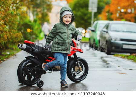 Boy posing with his motorcycle Stock photo © photography33