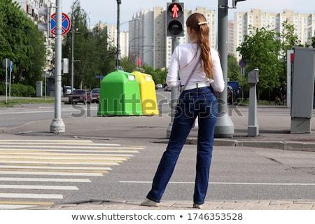 Voetganger rood licht kan niet lopen Stockfoto © idesign