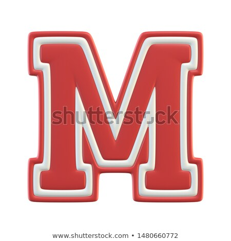 letter m as a sticker stock photo © maxmitzu