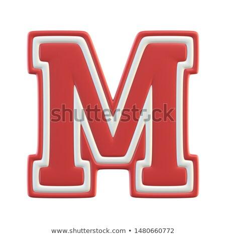 Mektup m etiket kırmızı soyut arka plan imzalamak Stok fotoğraf © maxmitzu