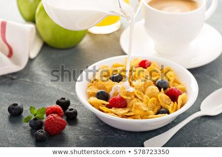 kahvaltı · mısır · gevreği · karpuzu · gıda · meyve · yaz - stok fotoğraf © M-studio