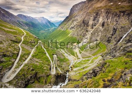 escandinavia · valle · primavera · montanas · viendo · turismo - foto stock © motttive