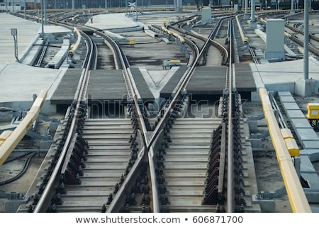 Сток-фото: сигнала · железнодорожная · станция · горизонтальный · город · фон