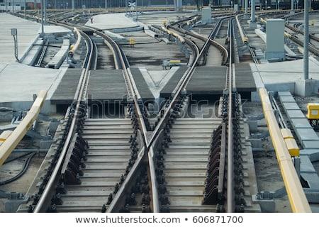 platform 3 signal at railway station stock photo © abbphoto