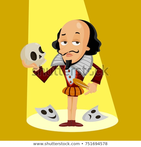 Shakespeare standing with quill. stock photo © iofoto