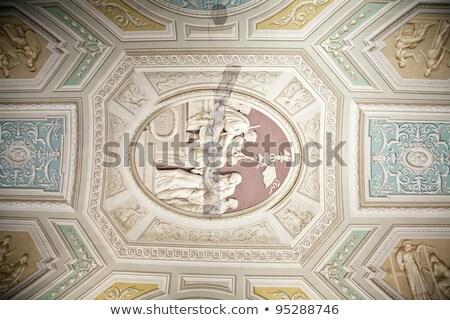 Vatikán múzeum bent plafon Róma Olaszország Stock fotó © billperry