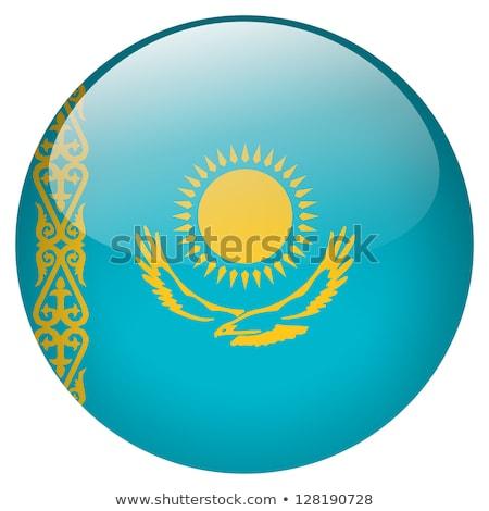 стекла кнопки флаг Казахстан красный лук Сток-фото © maxmitzu