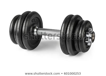 Gymnasium gewichten geïsoleerd witte sport gezondheid Stockfoto © kitch