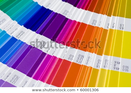 Pantone color palette catalogue in close up Stock photo © vladacanon