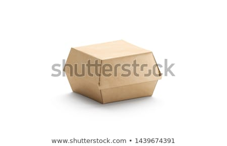 fast food cardboard burger stock photo © shawnhempel