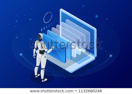 Robot e-mail dizayn web posta hizmet Stok fotoğraf © vector1515