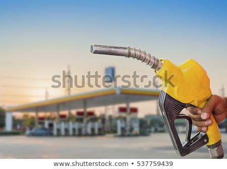 benzinpumpa · benzinkút · három · autó · zöld · utazás - stock fotó © tainasohlman