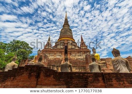 Pagoda Buddha tégla trópusi szobor vallás Stock fotó © leungchopan