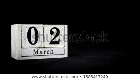 march in 3d wooden cubes Stock photo © marinini
