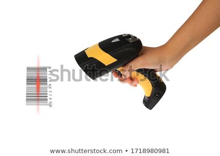 Women with barcode scanner in hand Stock photo © pxhidalgo