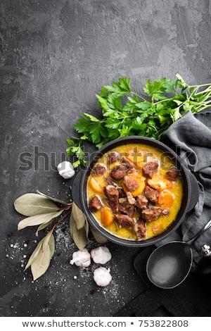 Rústico estofado casero vegetales zanahoria brócoli Foto stock © zhekos