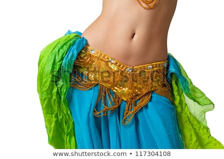 beautiful belly dancer in action stock photo © stockyimages