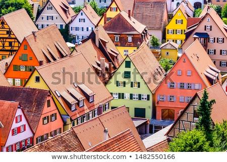 Tetők öreg középkori város nap Európa Stock fotó © meinzahn