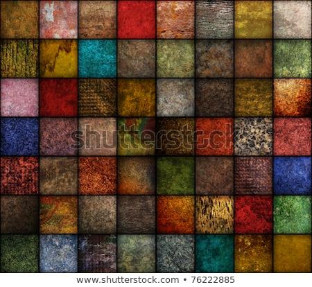 Vierkante oranje grunge exemplaar ruimte midden Stockfoto © karenr