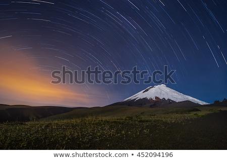 火山 エクアドル 1泊 ショット 星 日没 ストックフォト © pxhidalgo