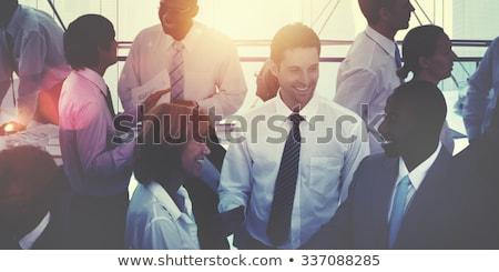 Iş adamları vektör toplantı işadamı mavi Stok fotoğraf © burakowski