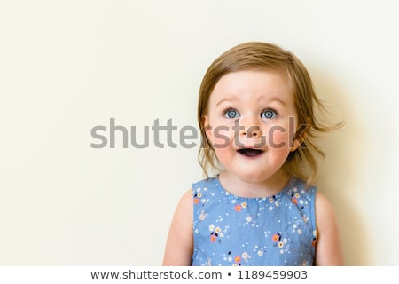 Cute adorable toddler expression Stock photo © phakimata