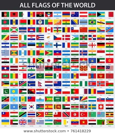 Bandiera icona isolato bianco mondo segno Foto d'archivio © zeffss