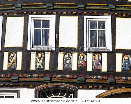 apostel half timbered house in fairy tale town of Steinau Stock photo © meinzahn