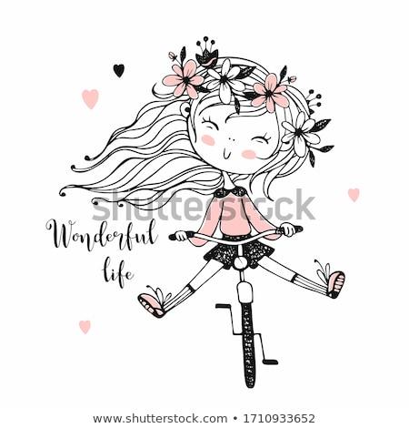 girl biking stock photo © ongap
