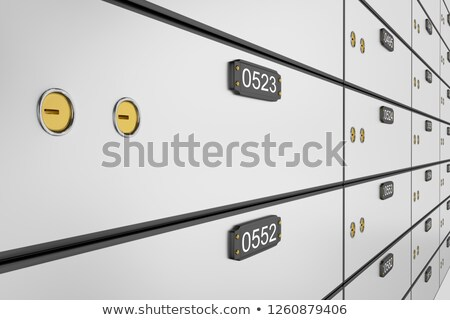 locker with many cells  Stock photo © anan