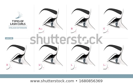 Curling lashes. Stock photo © Fisher