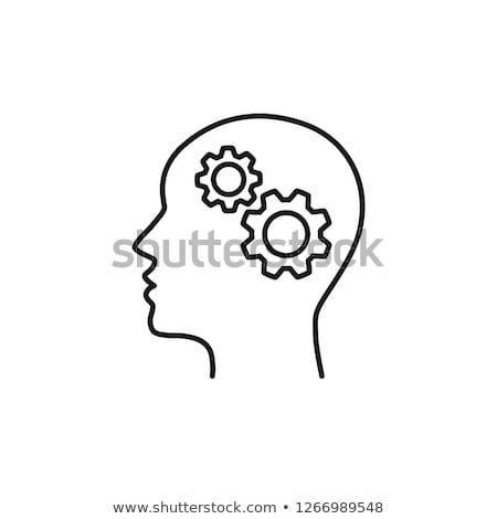 head and brain gears stock photo © lightsource