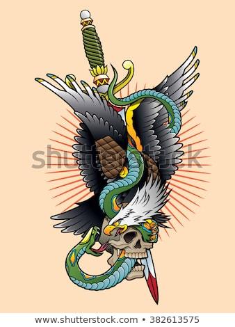poignard · aigle · illustration · deux · tête · défiler - photo stock © fmuqodas