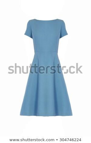 simple blue dress stock photo © gsermek