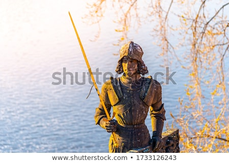 Famous Statue of Knight Bruncvik near the Charles Bridge Stock photo © CaptureLight