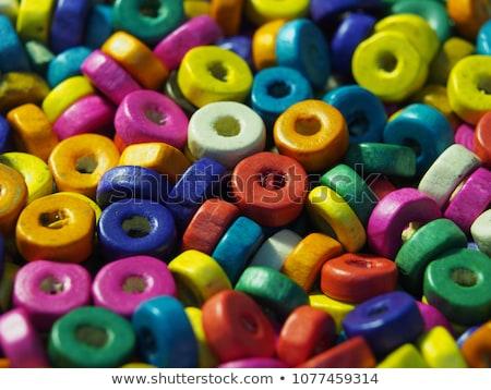 green beads isolated on white background Stock photo © natika