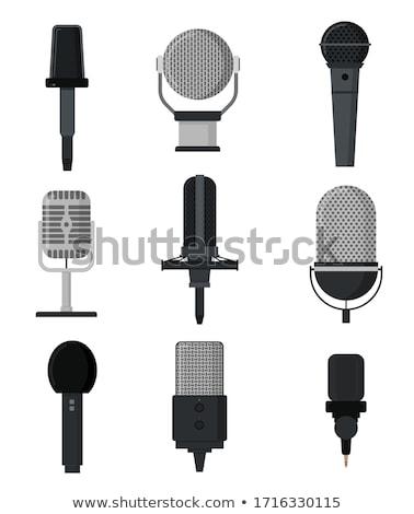 Stock photo: microphone set