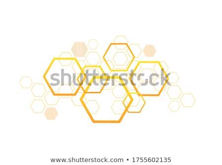 Absztrakt narancs hatszög építkezés technológia keret Stock fotó © sdmix