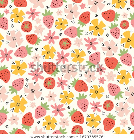 Seamless Tileable Fruit Strawberry Texture - Pattern Stock photo © grasycho