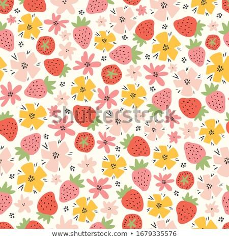 macro · aardbei · textuur · Rood · rijp · voedsel - stockfoto © grasycho