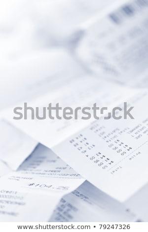 Close up of a shopping receipt, Stock photo © Lizard